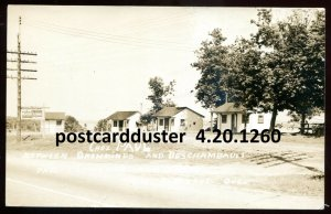 1260 - PORTNEUF Quebec 1940s Chez Paul Cabins. Real Photo Postcard by Duplain
