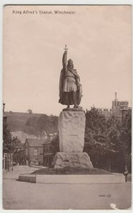 Hampshire; King ALfred's Statue, Winchester PPC By Valentines, c 1920's