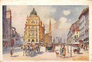 WIEN Praterstraße, Vienna, Austria Painting c1910s Art Vintage Postcard