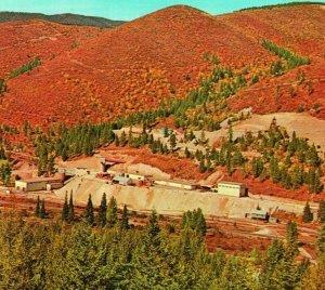 Vtg Cromo Postal Mullan Idaho Identificación Suerte Viernes Mine Dexter Press