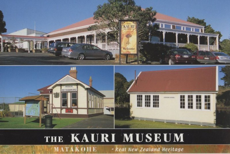 Kauri Museum Matahoke Post Office New Zealand Postcard