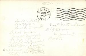 Cape Horn Idaho~Lake Pend Orielle~1943 WWII Sailor Mail~Real Photo Postcard