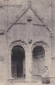 France Bretagne St No Na Porche de l'Eglise