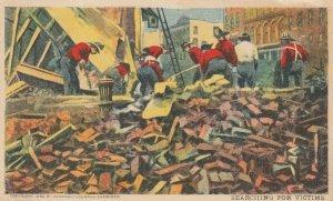 SAN FRANCISCO, California, 1906 ; Firemen searching for Victims , Earthquake