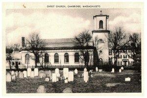 Lot 2 Christ Church Boston, Massachusetts MA Black & White BW Postcard