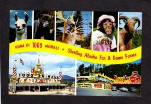 NY Sterling Alaska Fur and Game Farms, Lake Placid, Ausable Chasm New York PC