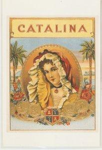 Catalina Nice modern Spanish Cigar Box Label Postcard. Continental size