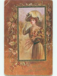 Divided-Back PRETTY WOMAN Risque Interest Postcard AA8054