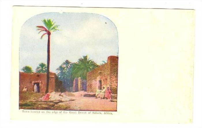 Town Located On The Edge Of The Great Desert Of Sahara, Africa, 1900-1910s