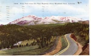 CO - Pike's Peak from Ute Pass Hwy above Woodland Park