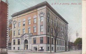 Street view showing Y.M.C.A. building, Indiana, 00-10s