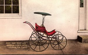 West Virginia Lewisburg General Lewis Hotel Baby Carriage 1946 Handcolored Al...