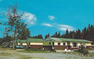 Exterior View of Deervale Cottages, Ingonish Centre, Cape Breton, Nova Scotia...
