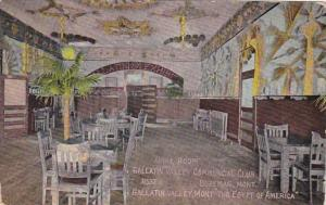Montana Bozeman Gallatin Valley Commercial Club Grill Room 1911
