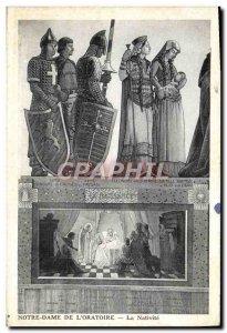 Old Postcard Notre Dame De L & # 39Oratoire The Nativity