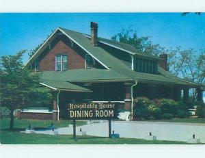 Unused Pre-1980 HOSPITALITY HOUSE RESTAURANT Huntsville Alabama AL v6934