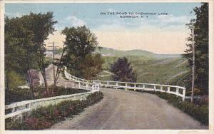 On The Road To Chenango Lake Norwich New York 1916
