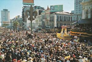 Louisiana New Orleans Mardi Gras Day Crowd