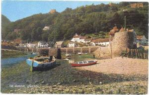 The Harbour at Lynmouth, Devon, England, UK, Chrome