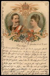 Germany 1901 Kaiser Wilhelm II and Wife Jubilee Patriotic Card 79803