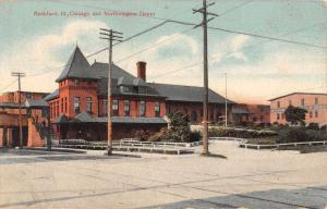 Rockford Illinois Northwestern Depot Antique Postcard K50732