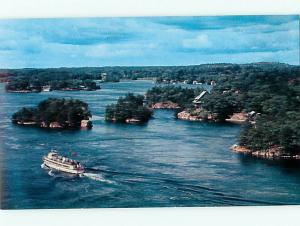 Ontario Canada Thousand Islands Cruise Boats international Brid  Postcard # 5812