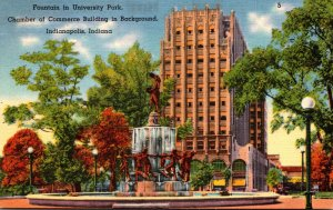 Indiana Indianapolis University Park Fountain Chamber Of Commerce Building In...