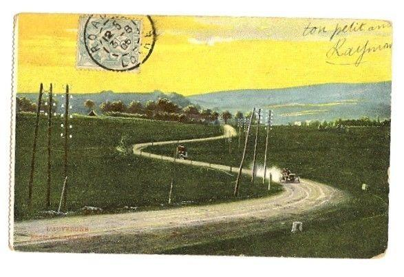 Motor Racing 1905 color postcard