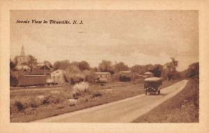 Titusville New Jersey Early Auto Scenic View Antique Postcard K93091