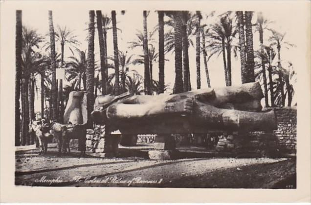 Egypt Memphis The Colossal Statue Of Rameses II Photo