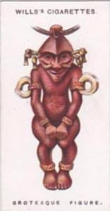 Wills Cigarette Card Lucky Charms No 48 Grotesque Figure