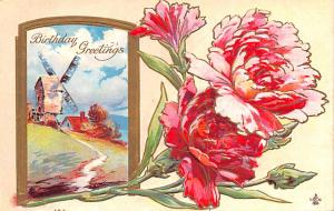 Post Card Old Vintage Antique Birthday Greetings Unused