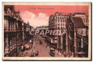 Postcard Old Lyon Place des Cordeliers