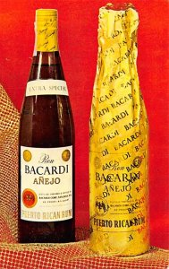 Advertising Post Card Ron Bacardi Anejo Puerto Rico Rum Unused