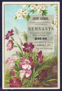 VICTORIAN TRADE CARD Leon Lemos Suits from Remnants
