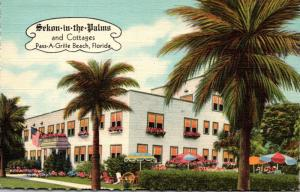 Florida Pass-A-Grille Beach Sekon-in-the-Palms Hotel and Cottages 1950 Curteich