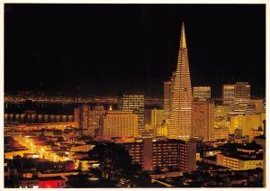 Postcard SAN FRANCISCO Skyline Transamerica Pyramid USA United States #S