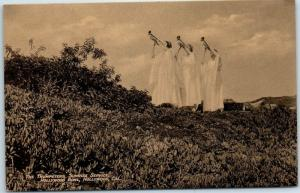 1930s HOLLYWOOD BOWL California Postcard The Trumpeters Easter Sunrise Service