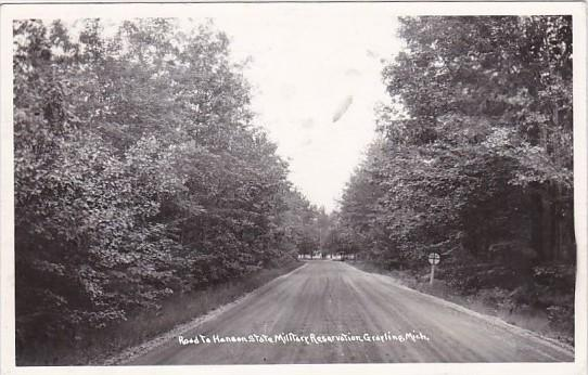 Road To Hanson State Military Academy Grayling Michigan 1948 Real Photo