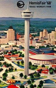 TX - San Antonio. HemisFair '68. Tower of the Americas