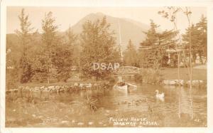 B92/ Skagway Alaska AK Real Photo RPPC Postcard 1937 Pullen House Canoe