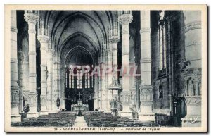 Postcard Old Guemene Penfao Interior of & # 39eglise