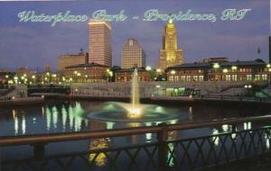 Rhode Island Providence Waterplace Park At Night