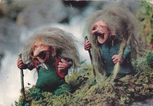 Clay Figures, Two Old Witches, 50-70s