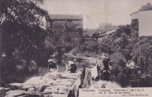 Pontevedra Rio De Los Gafos Spanish Old Crafts Workers Postcard