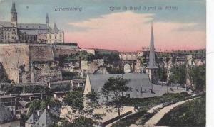 Luxembourg Eglise du Grund et pond du chateau