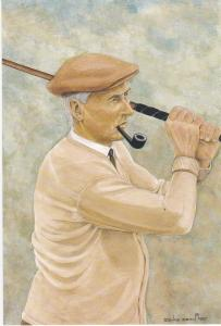 print of golfer Harry Vardon winner of the 51st Open Championship