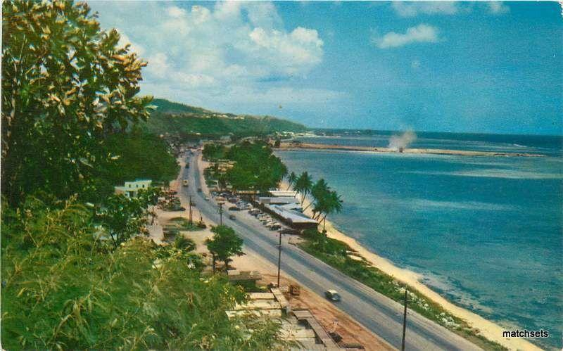 GUAM Marine Time Main Highway MIKE ROBERTS postcard 14223