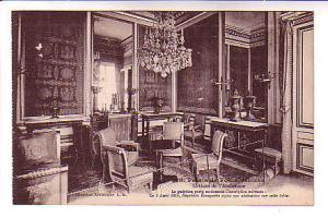 B&W Interior Palace, Room Where Napoleon Abdicated, Fontinebleau France