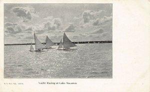 LPS46 LAKE MANAWA Iowa Yacht Racing Postcard